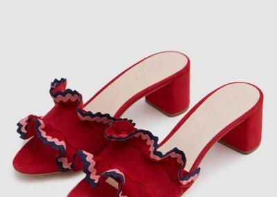scarpa arricciata plissettata