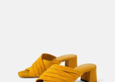 scarpa plissettata macchina