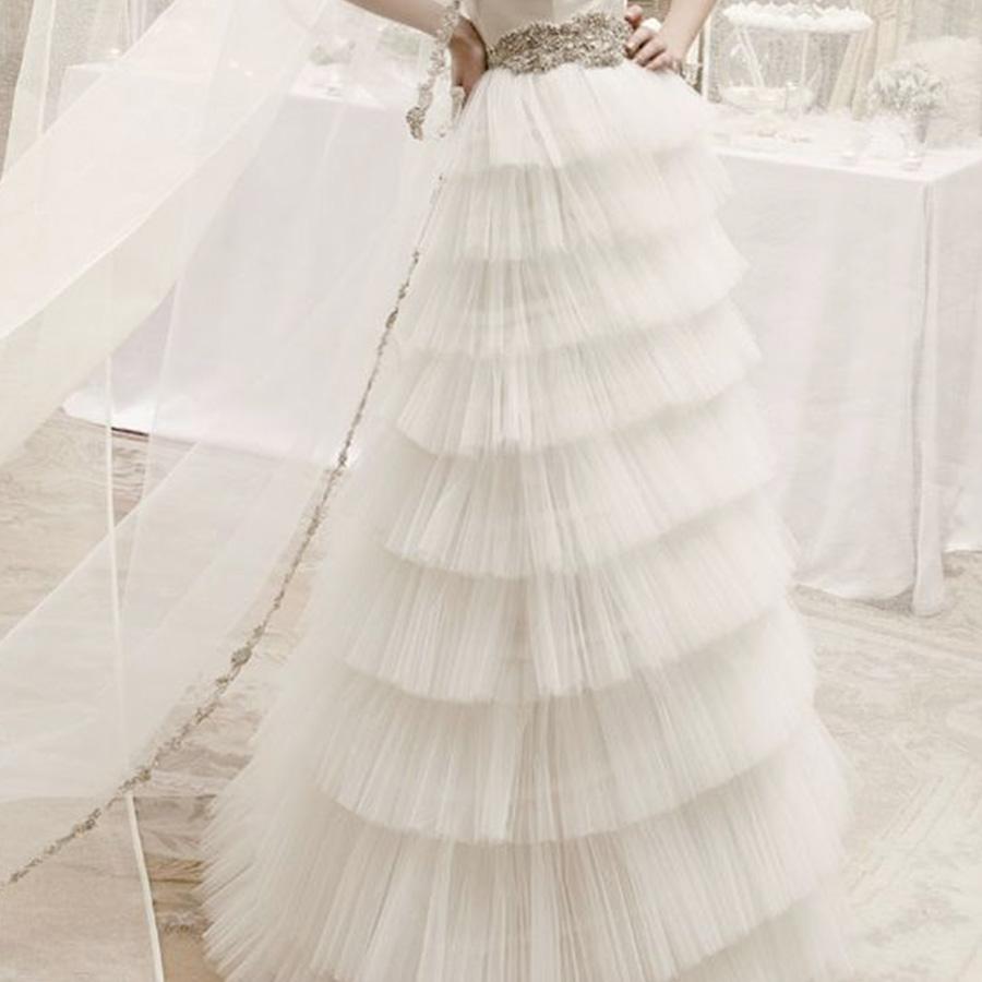 abito sposa plissettato